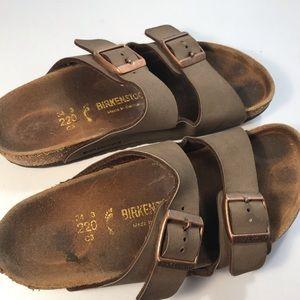 Birkenstock Shoes - Birkenstock Brown Slip On Sandals